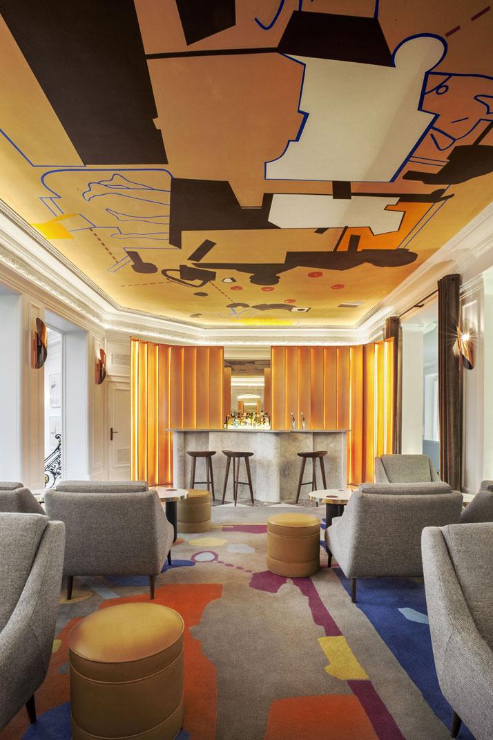 Harmonies contemporaines l 39 h tel vernet for Hotel color design paris